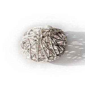 Drahtgeflecht Silberperlen