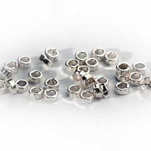 Silber Quetschperlen