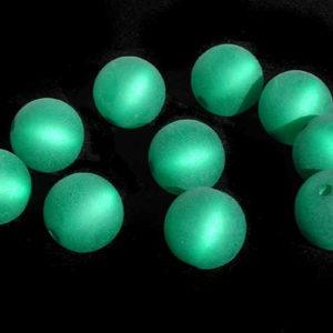 Polarisperle 8 mm grün rund
