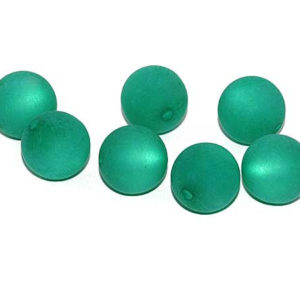 Polarisperle 8 mm dunkelgrün rund