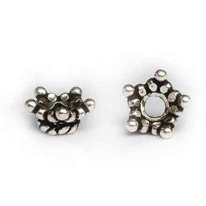 Silber Perlkappen