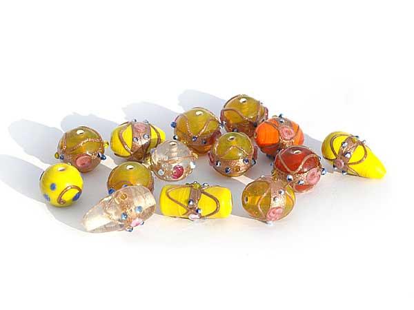 gelb orange roter wedding cake beads Mix 150 g