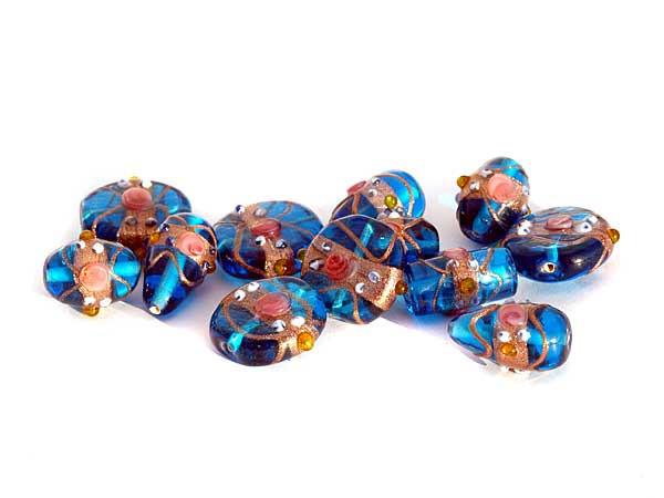 Glasperlen wedding cake beads Mix türkis 150 g