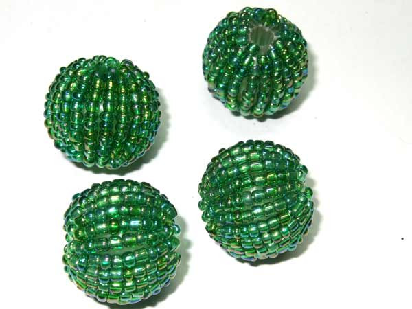 Rocailles Perle grün
