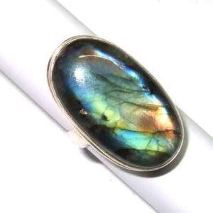 Labradorit Ring 925 Silber