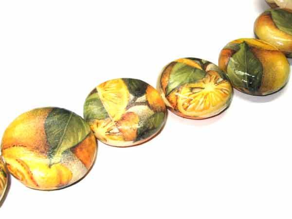 Perle Papiertaler mit Zitronen 34 mm