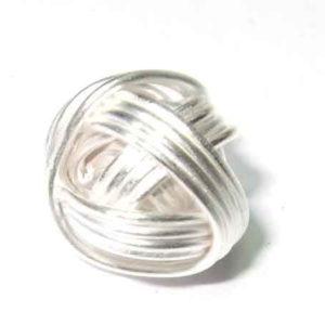 Silberperle Ball aus Draht 925-Silber 8 mm