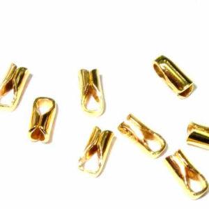 vergoldete Endstücke aus Silber