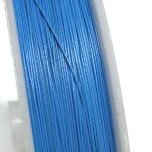Stahlseide 70 m blau Schmuckdraht