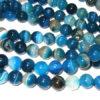 Achat Perlen Strang blau Strang Kugeln 10 mm