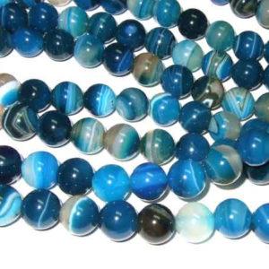 Achat Perlen blau