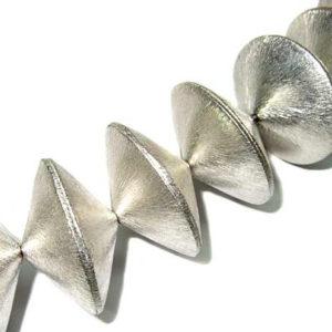 versilberte Kupferperlen