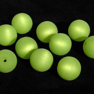 Polarisperle 6 mm hellgrün rund