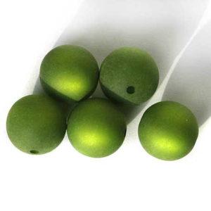 Polarisperle 6 mm oliv rund