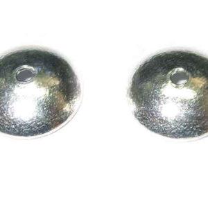 glänzende Perlkappen 925-Silber 6 mm