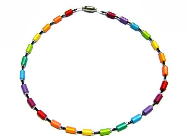 Regenbogenkette aus Polarisperlen