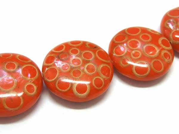oranger Acryltaler Bambus 35 mm