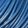 Lederband 2 mm blau Schmuckgestaltung