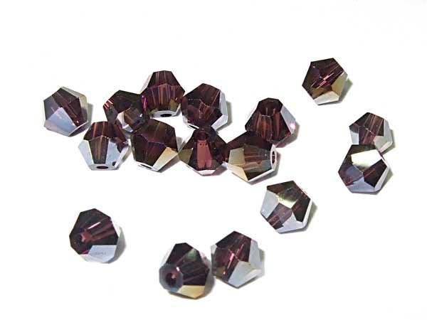 Kristallschliffperlen 4 mm amethyst AB 50 Stk