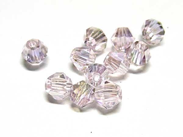 50 Kristallschliffperlen 4 mm flieder AB