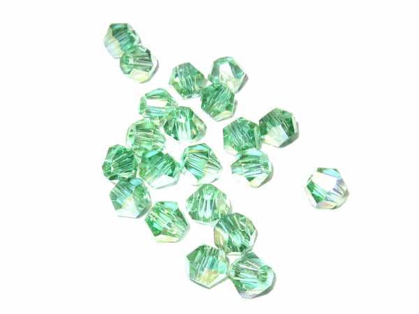 50 Kristallschliffperlen 4 mm peridot AB