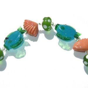 maritimes Glasperlen Set Lampwork beads 10370