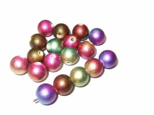 kunterbunte mehrfarbige Acrylperlen 7 mm
