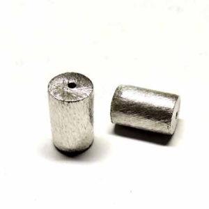 versilberte Kupferperle Walze 14 * 10