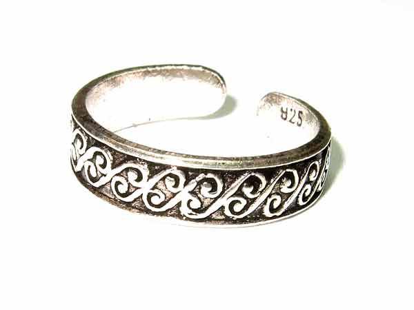 Zehenring Keltenmuster aus 925er Silber