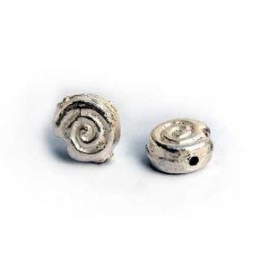 Silberperle Schnecke 4 mm 2841