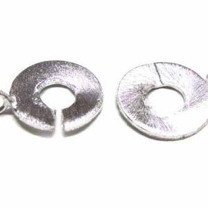 versilberte Kupferperle Rund-Rund-Verschluss 20 mm