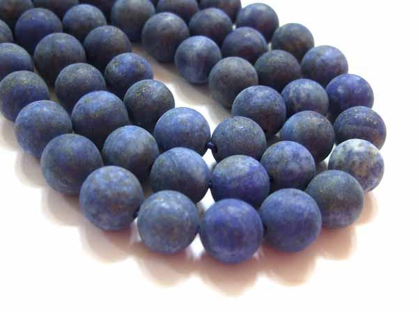 Lapis Lazuli Perlen Strang matt 10 mm