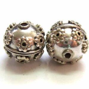 Silberperle aus Bali 12691