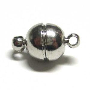 Magnetverschluss für Schmuck 8 mm 12936 platinfarbig