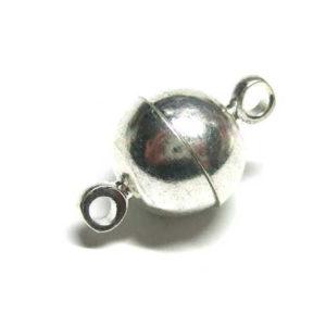 Magnetverschluss silberfarbig Schmuckzubehör 8 mm 12935