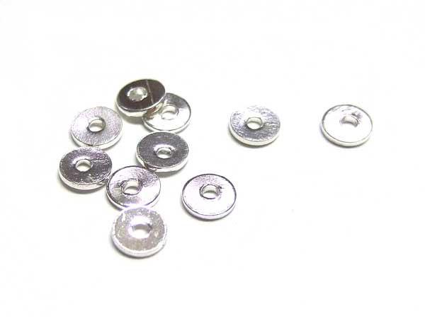 Silberperlen 4 mm Scheiben glänzend