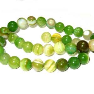 Achat Perlen hellgrün