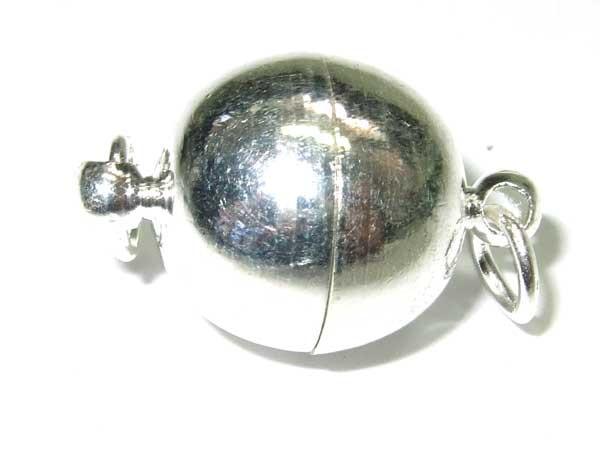 Magnetverschluß Kugel 12 mm silber