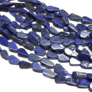 Lapis Lazuli Perlenstrang flache Tropfen