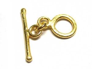 Knebelverschluss aus vergoldetem Silber