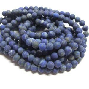 Lapis Lazuli Perlen Strang matt 6 mm