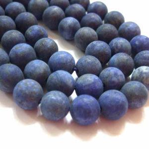 Lapis Lazuli Perlen Strang matt 8 mm