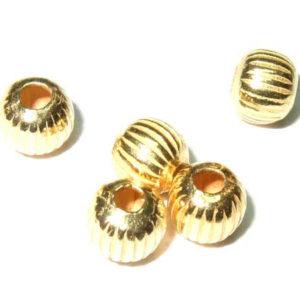 vergoldete gerillte Silber Kugeln