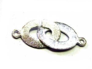 Rund-Rund-Verschluss aus Silber