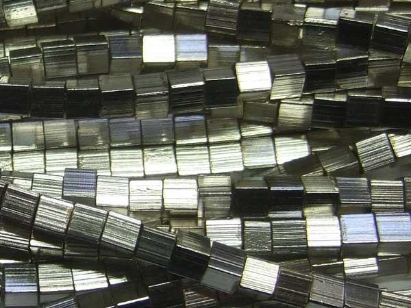 versilberte Kupferperlen Würfel