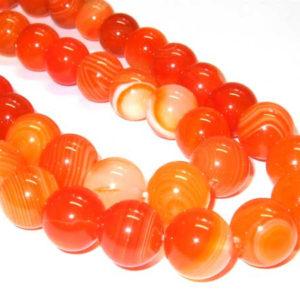 Achat Perlen kaufen Strang orange Kugeln 8 mm