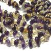 Citrin und Amethyst Perlen Strang Nuggets 10638