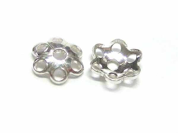 winzige Blumen Perlkappen 925-Silber 12368