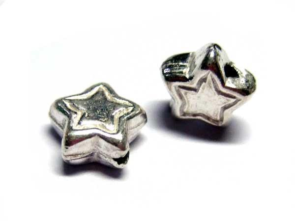 925 Silberperle Stern Silber 14250