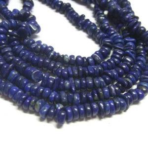 Lapis Lazuli Perlenstrang Scheiben